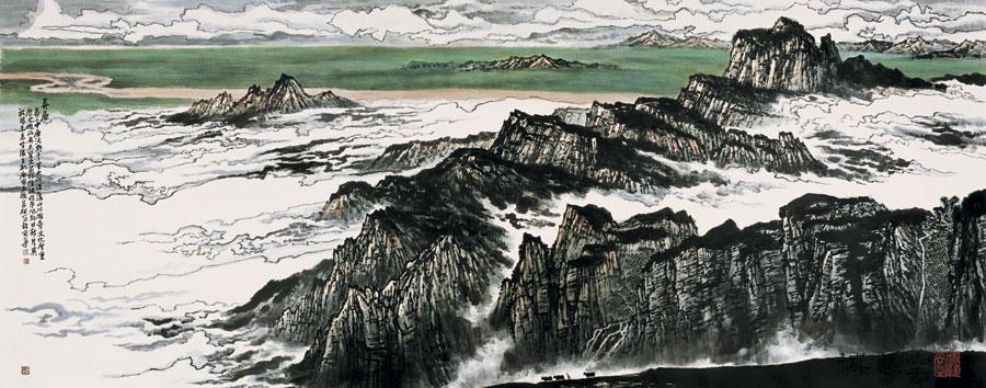 刘万林山水画